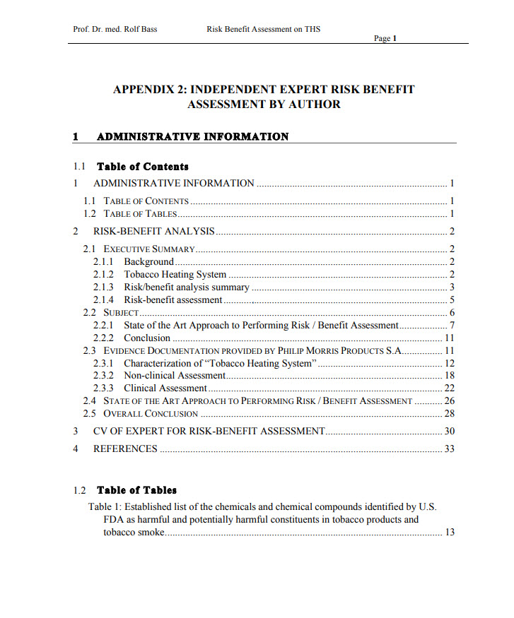 Appendix 2 - Independent Expert Risk Benefit_Cover