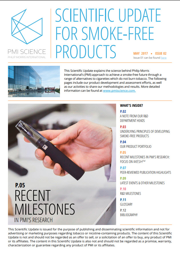 Scientific Update for Smoke-Free Products Cover
