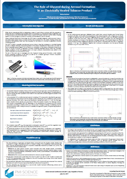 AAC 2017 Nordlund The role of glycerol during aerosol formation in an electrically heated tobacco product Screenshot