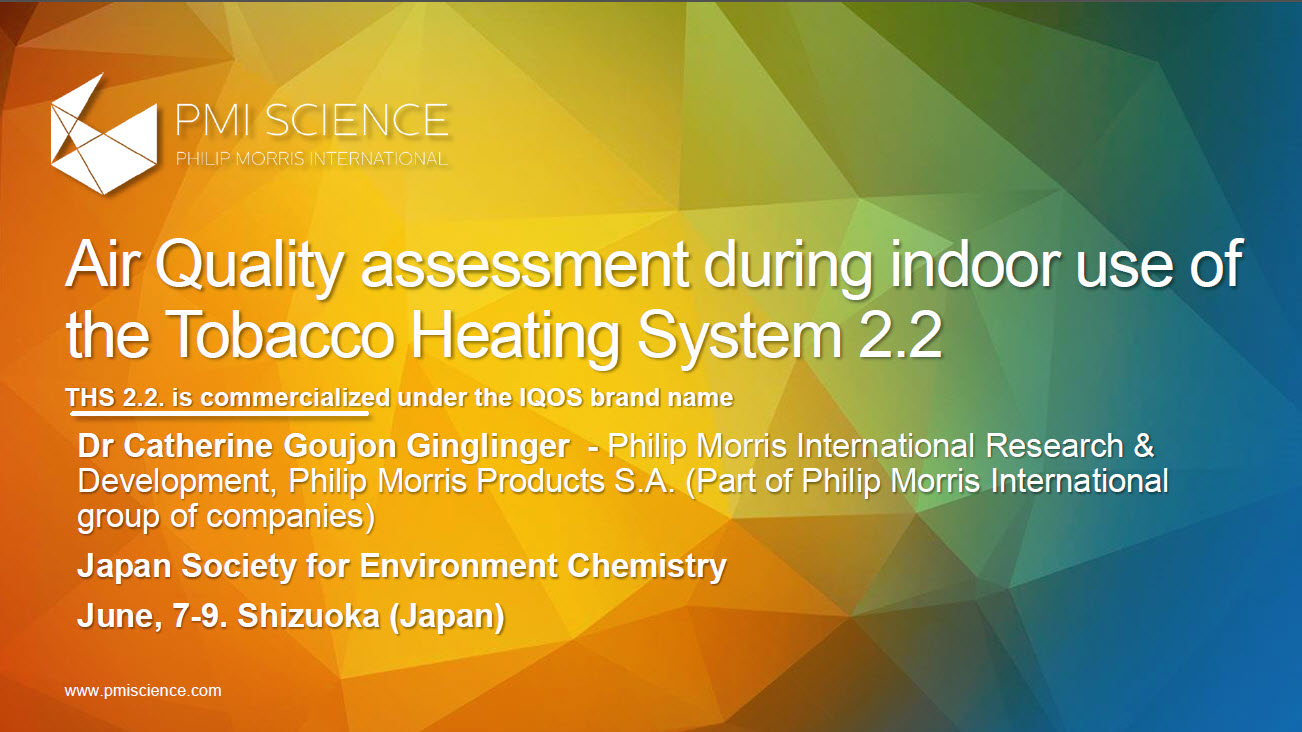 Air Quality assessment during indoor use of the Tobacco Heating System 2.2_Screenshot