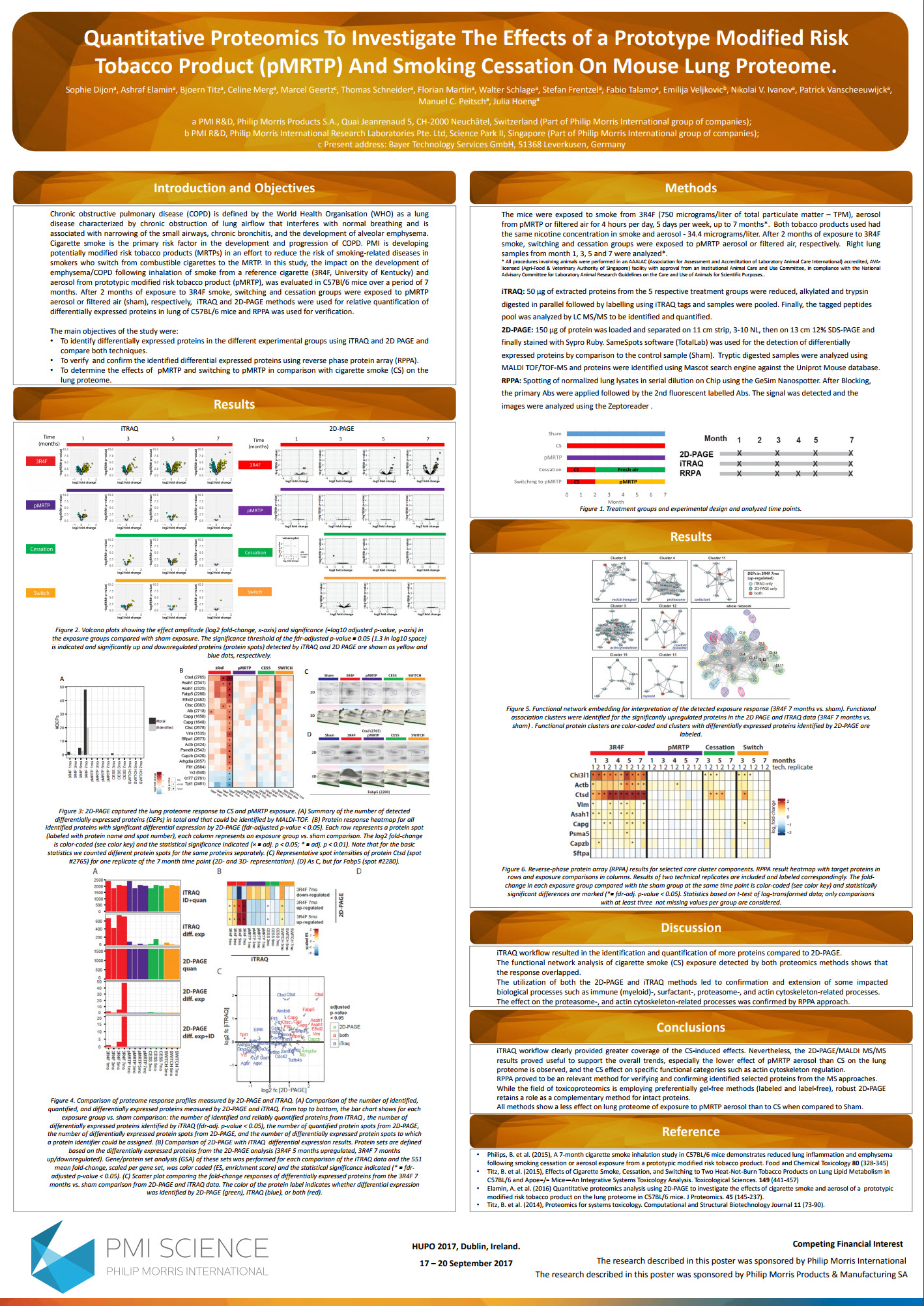HUPO 2017 Dijon Quantitative proteomics to investigate the effects of a prototype modified risk tobacco product (pMRTP) Screenshot