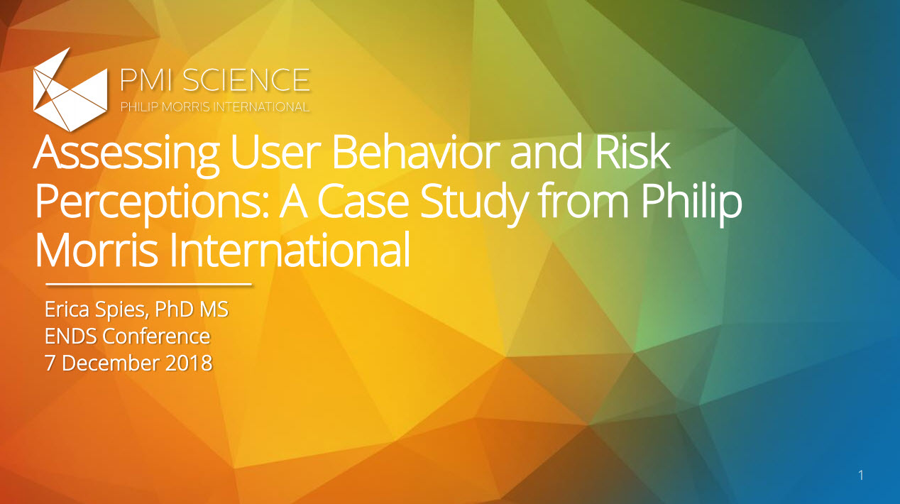 E. Spiess_Assessing User Behavior and Risk Perceptions_ A Case Study from Philip Morris International