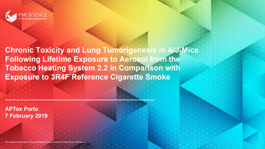 K. Luettich_ Chronic Toxicity and Lung Tumorigenesis in AJ Mice