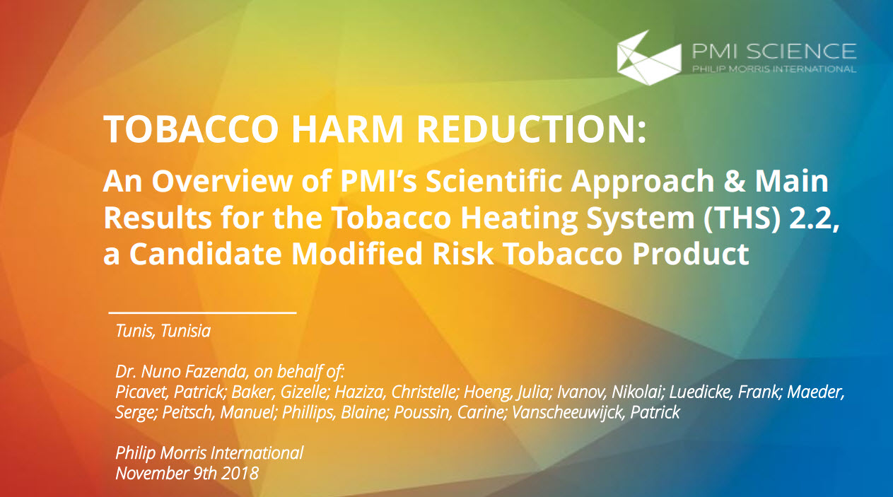 N.Fazenda_Tobacco Harm reduction_ an overview of PMI's scientific_
