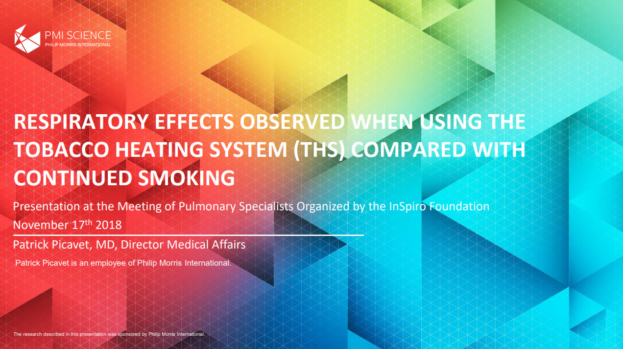 P. Picavet_Respiratory effects observed when using the tobacco heating system_