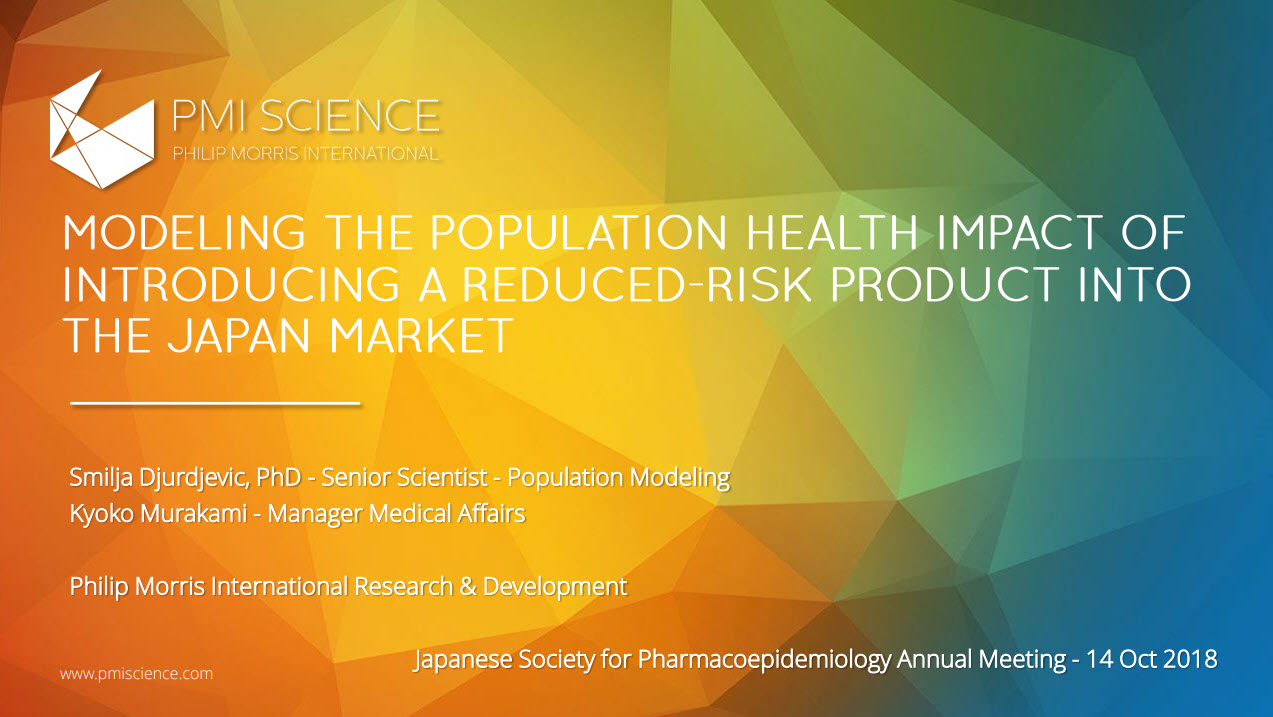 S.Djurdjevic_Modeling the population health impact of introducing a reduced-risk product