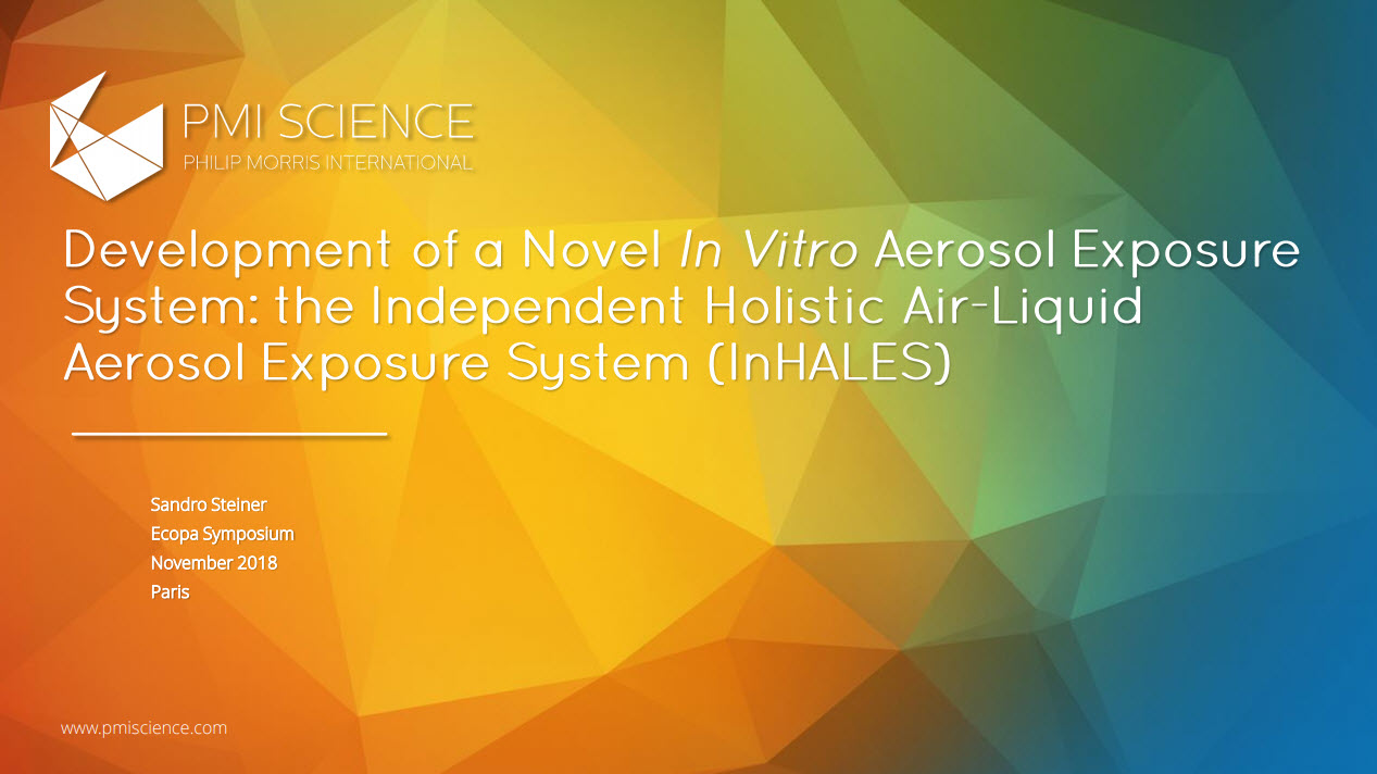 S.Steiner_Development of a Novel In Vitro Aerosol Exposure System the Independent