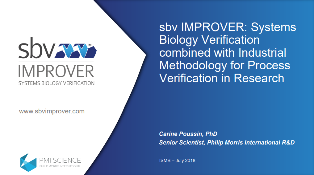 sbv IMPROVER - Systems Biology Verification combined with Industrial Methodology for Process Verification in Research