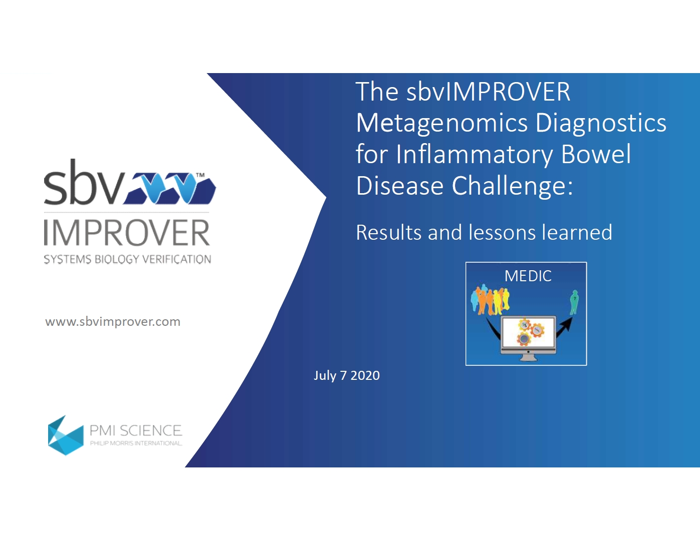 The sbvimprover metagenomics diagnostics for inflammatory bowel disease challenge