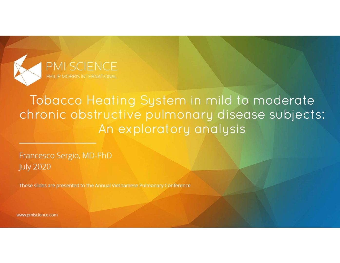Tobacco Heating System in mild to moderate chronic obstructive pulmonary disease subjects