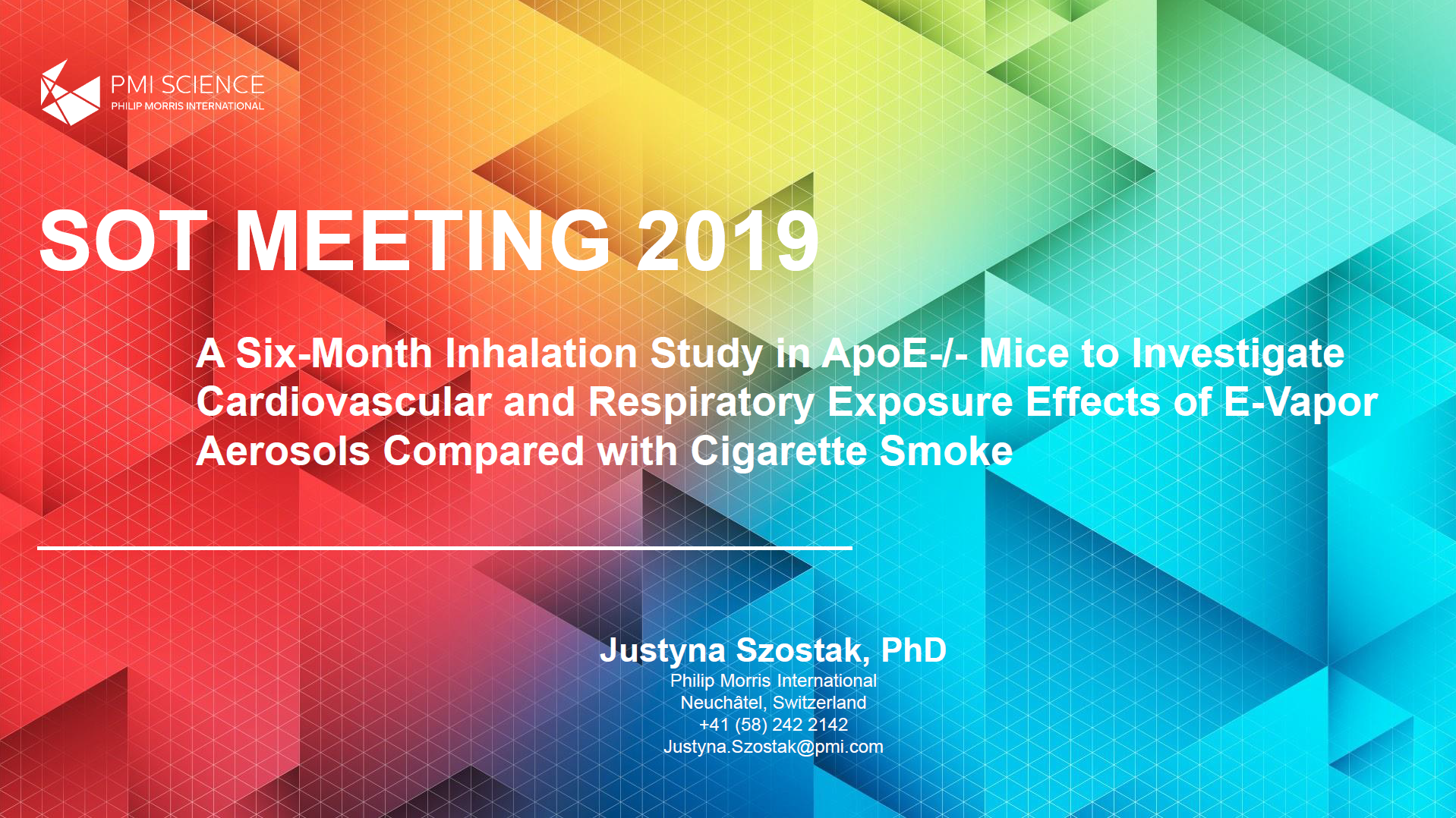 J. Szostak_A six-month inhalation study in ApoE-/- mice to investigate cardiovascular and respiratory exposure effects of e-vapor aerosols compared with cigarette smoke