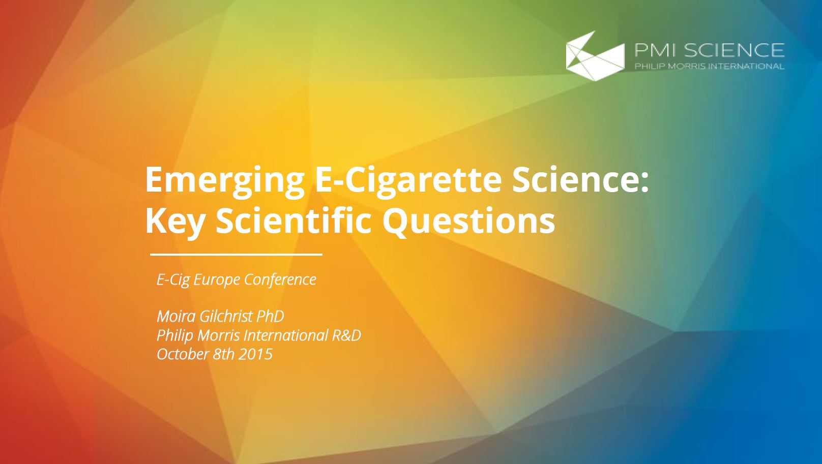 mgilchrist_e-cig_europe_scientific_questions_and_data