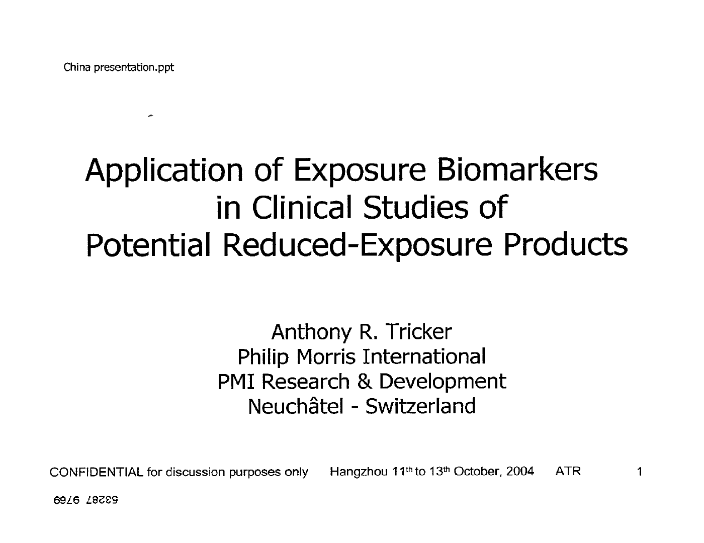 Tricker_Application of Exposure Biomarkers in Clinical Studies