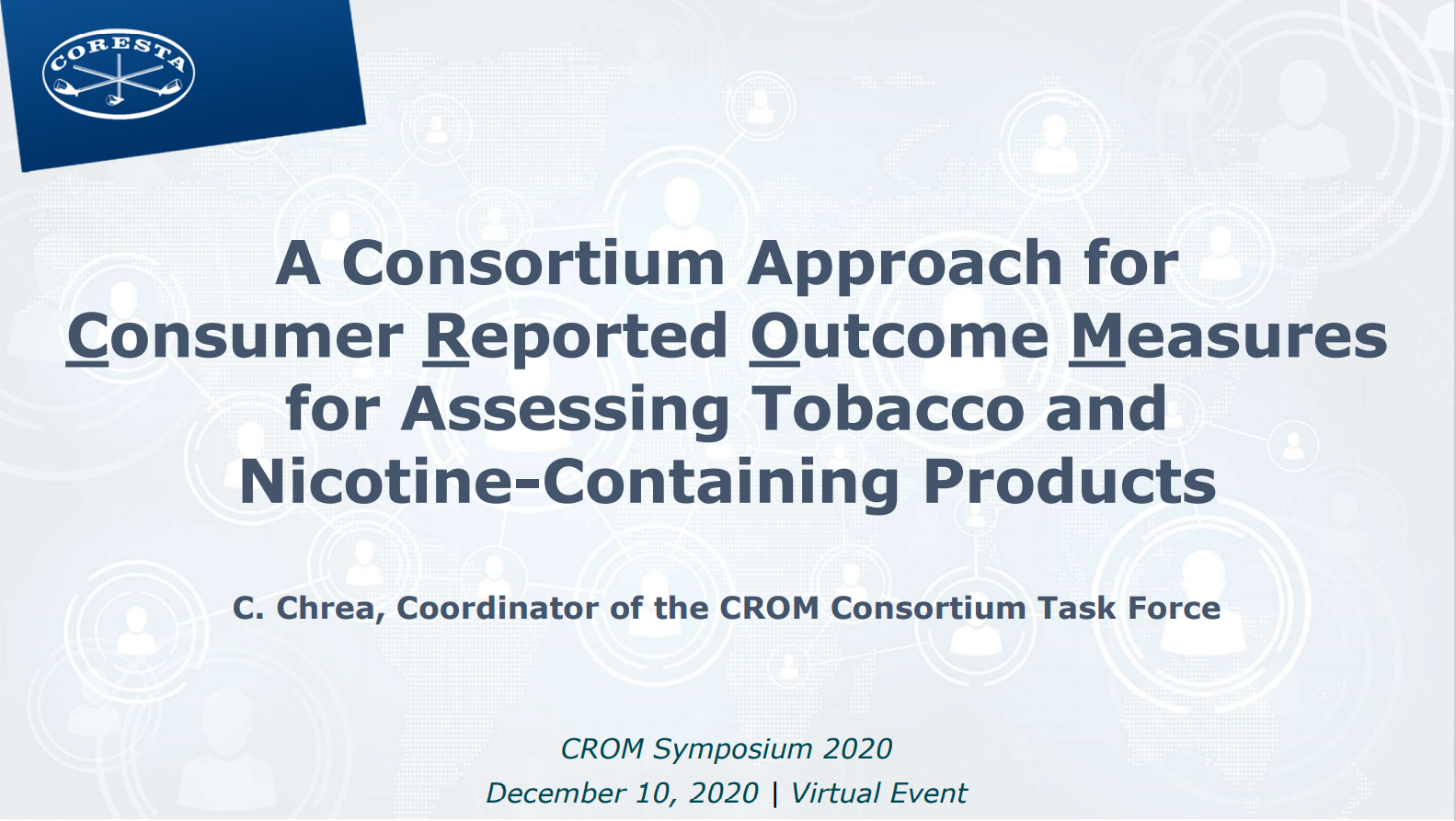 A Consortium Approach for Consumer Reported Outcome Measures for Assesing Tobacco and Nicotine Containing Products